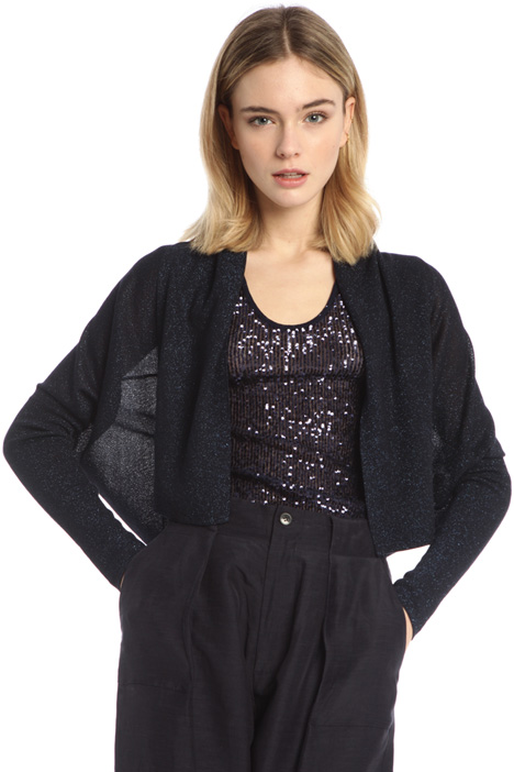Short viscose lurex cardigan Intrend