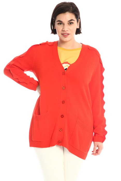 Cardigan with scalloped detail Intrend