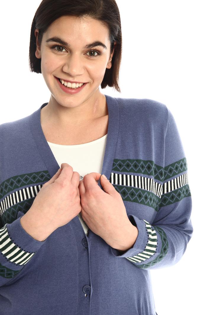 Cotton jacquard cardigan Intrend