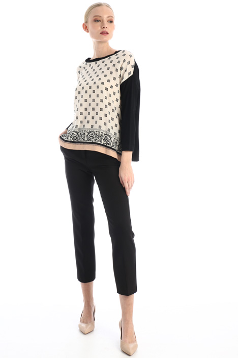 Boxy silk blend sweater Intrend