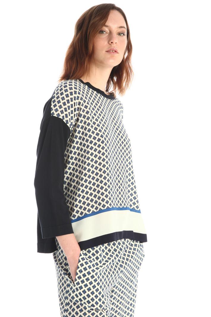 Boxy silk blend sweater Intrend