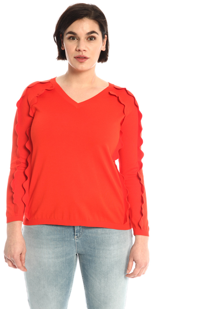 Scalloped detail sweater Intrend