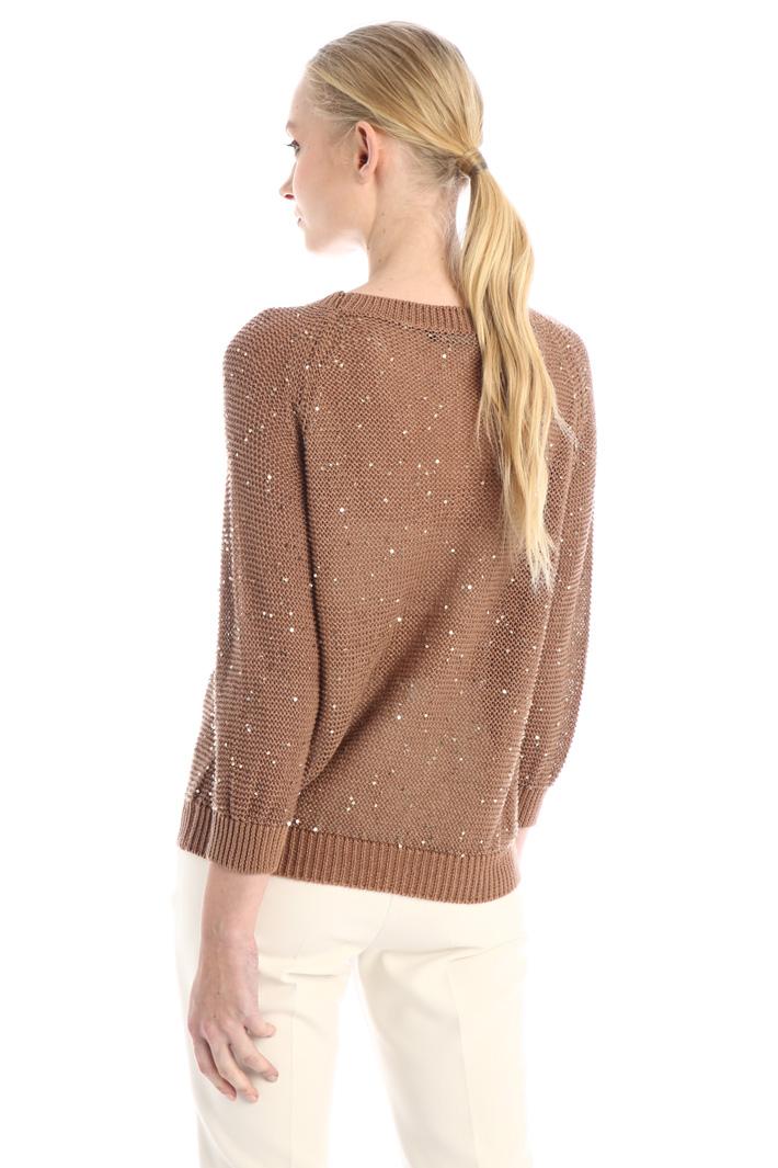 Sequinned linen sweater Intrend