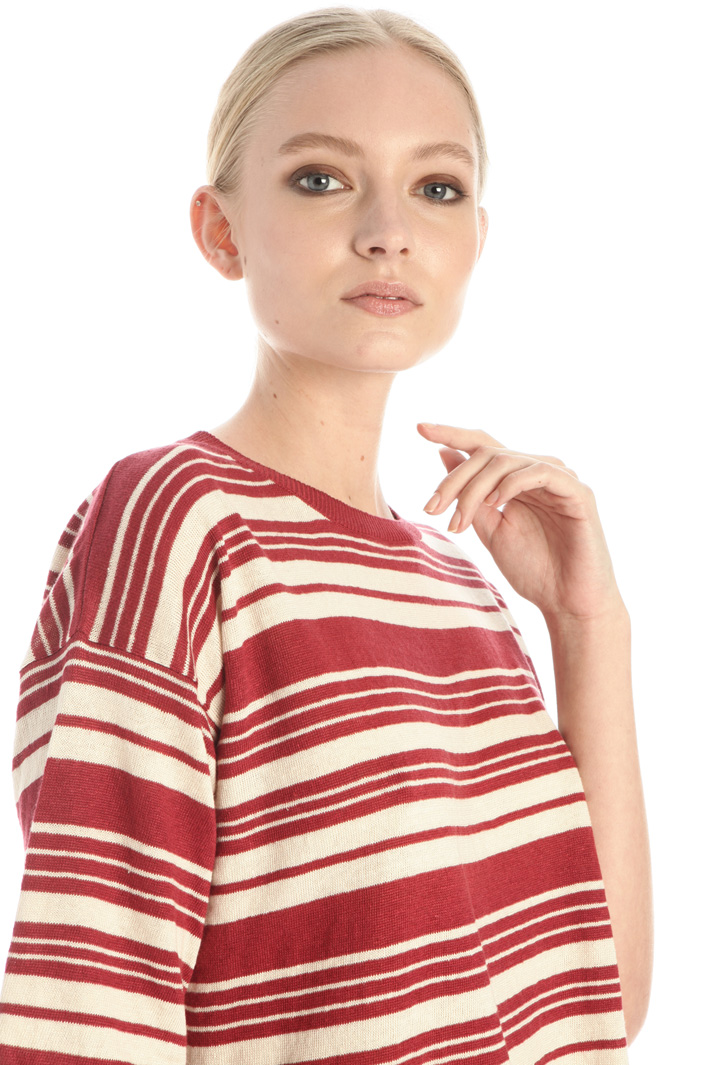Short sleeved linen sweater Intrend