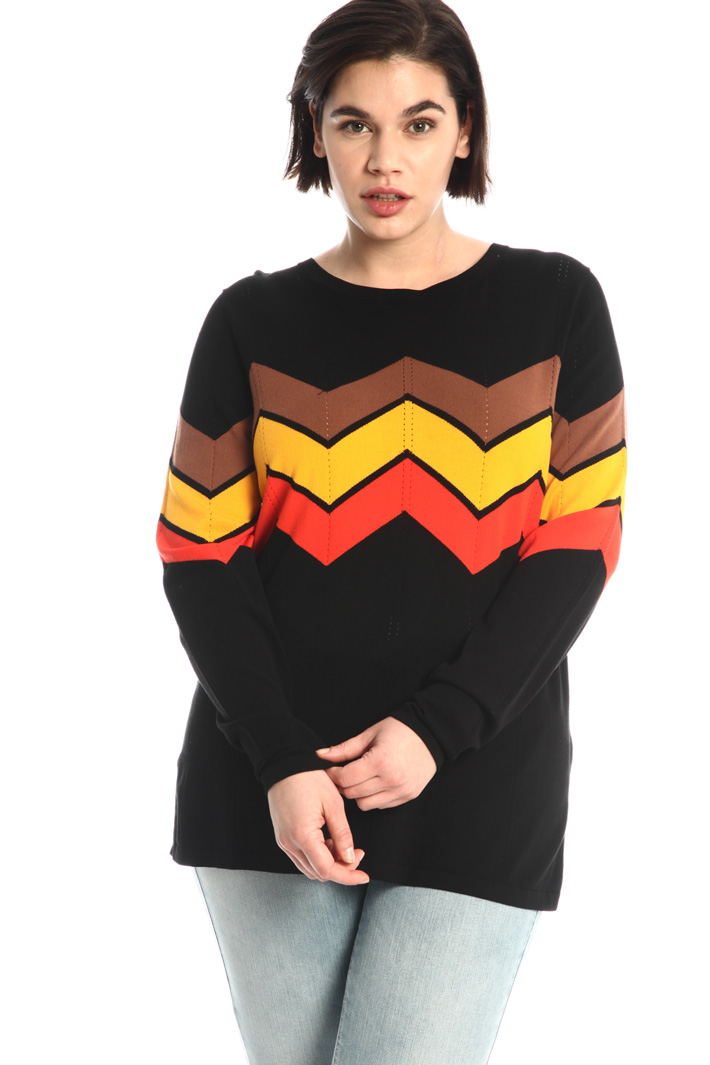 Inlayed sweater Intrend