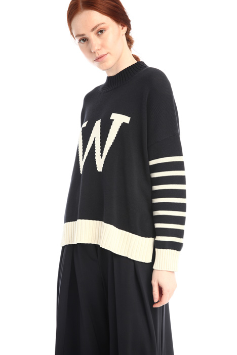 Oversized inlay sweater Intrend