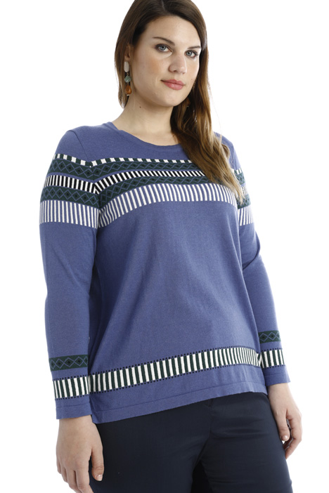 Jacquard cotton sweatshirt Intrend