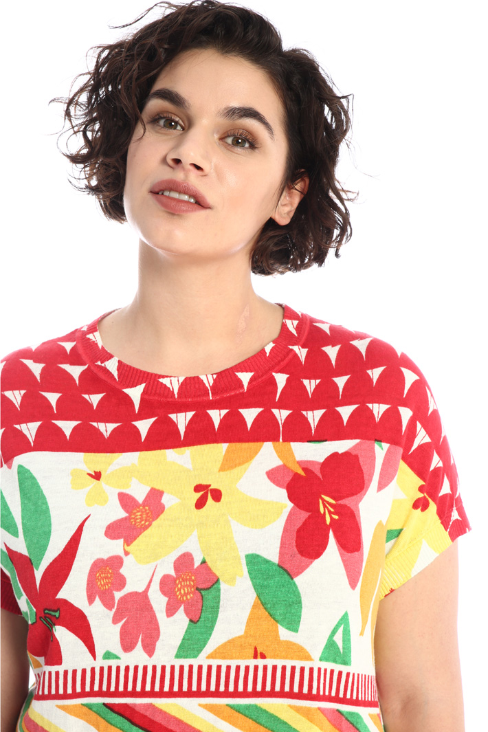 Printed linen sweater Intrend