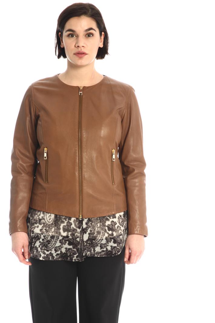 Biker jacket in leather Intrend