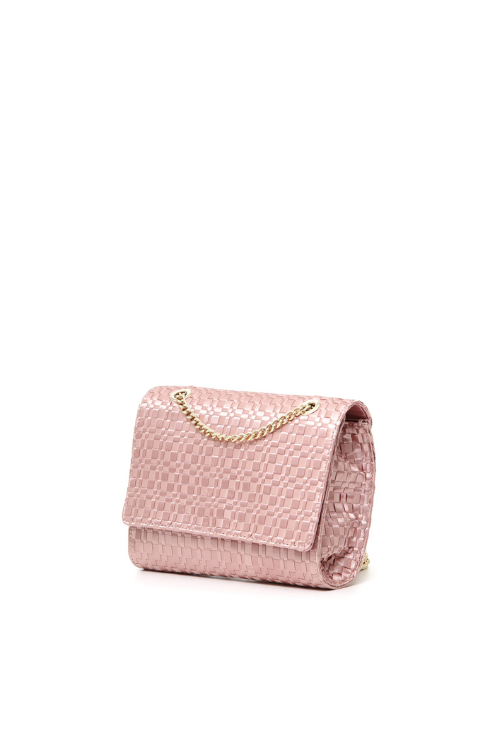 Clutch in raso con intreccio Intrend