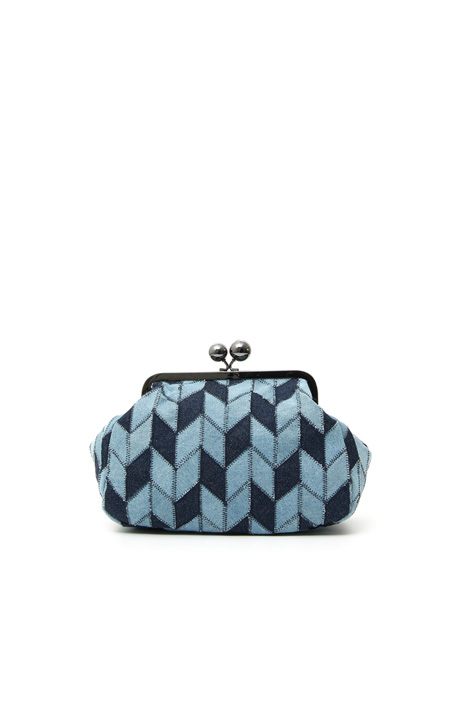 Clutch morbida in denim Intrend