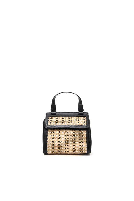 Bag in straw and leather Intrend
