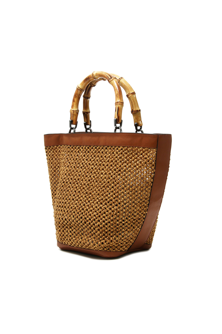 Bamboo handle bag Intrend