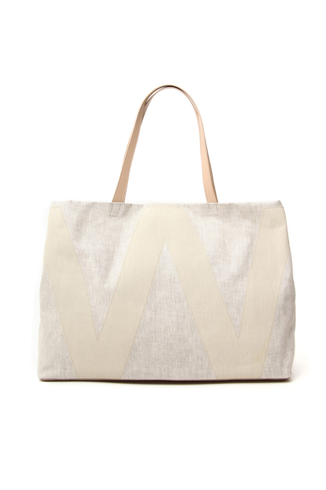 Linen canvas shopper bag Intrend