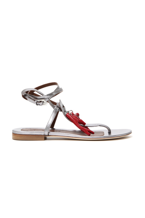 Metallic nappa leather sandals Intrend