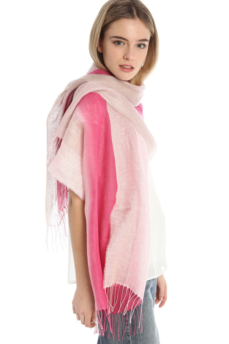 Fringed linen stole Intrend