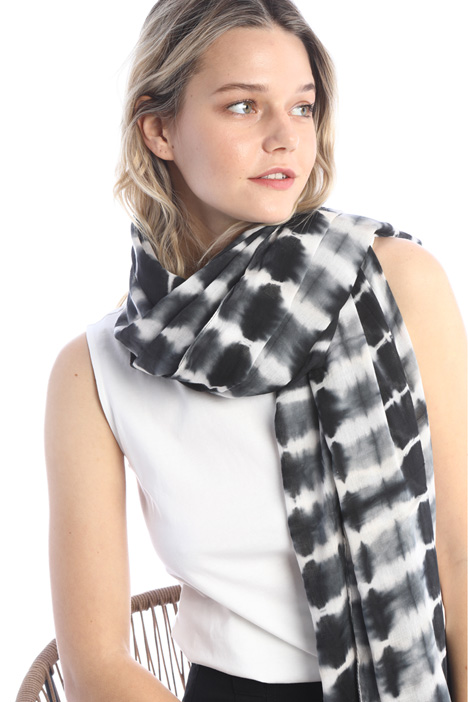 Printed cotton blend stole Intrend