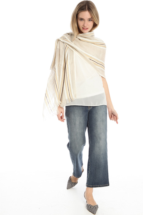 Yarn dyed linen stole Intrend