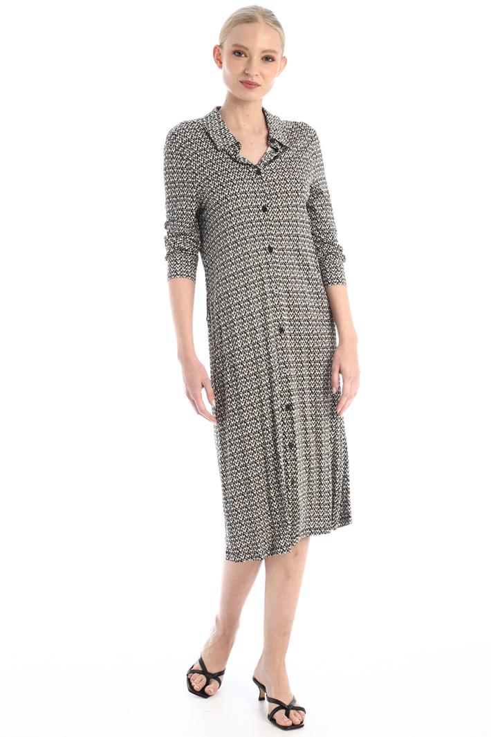 Jersey chemisier dress Intrend