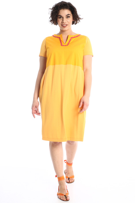 Jersey and poplin dress Intrend