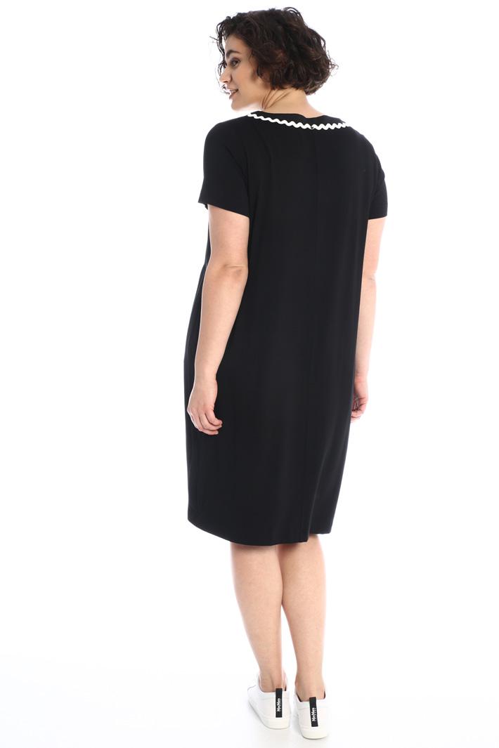 Jersey and poplin dress Intrend