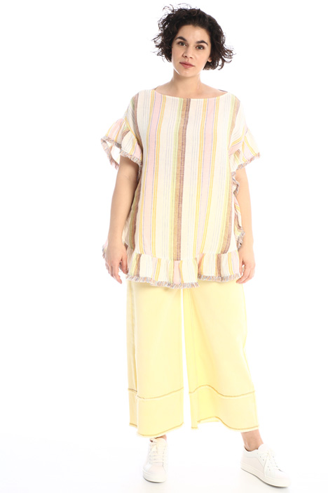 Fringed linen tunic Intrend