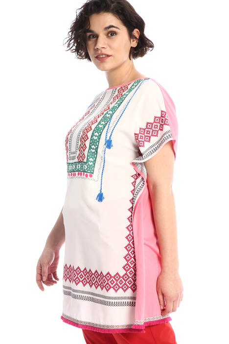 Printed fringe-detailed tunic Intrend