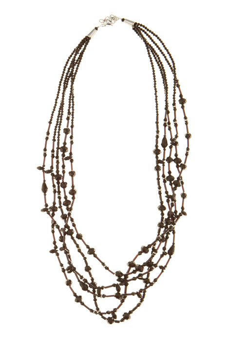 Multi-row beaded necklace Intrend