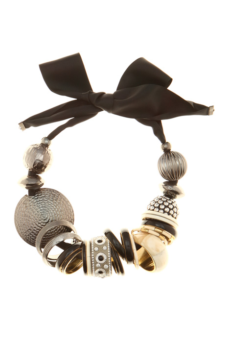 Metal and horn necklace Intrend