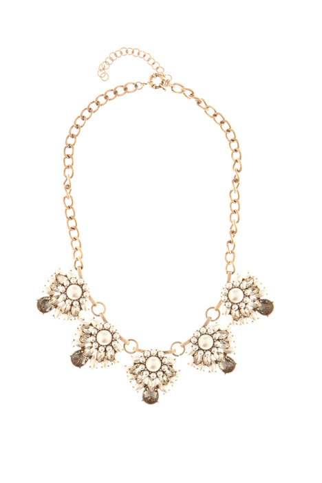 Rhinestone and pearl necklace Intrend