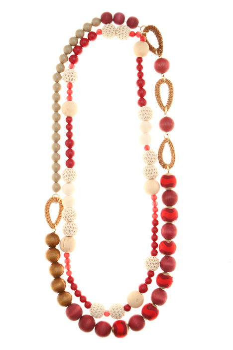 Straw and wood necklaces Intrend