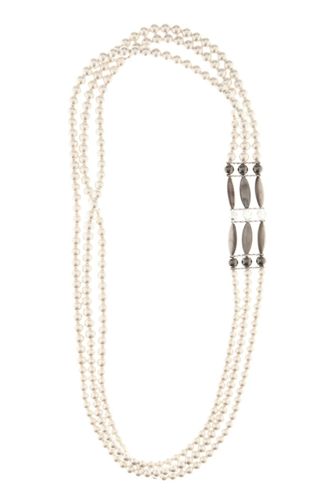 Multi-row bead necklace Intrend