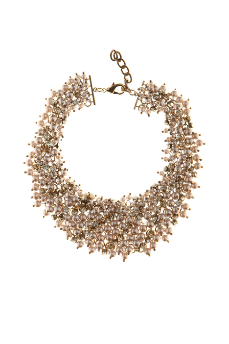 Bead and rhinestone necklace Intrend