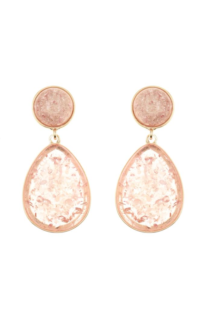 Resin drop earrings Intrend