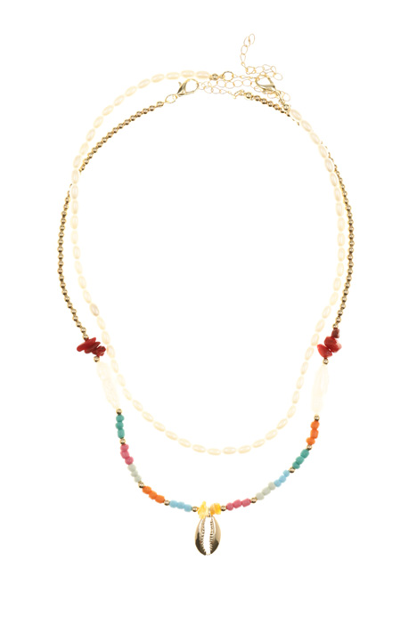 Multi-row necklace with beads Intrend