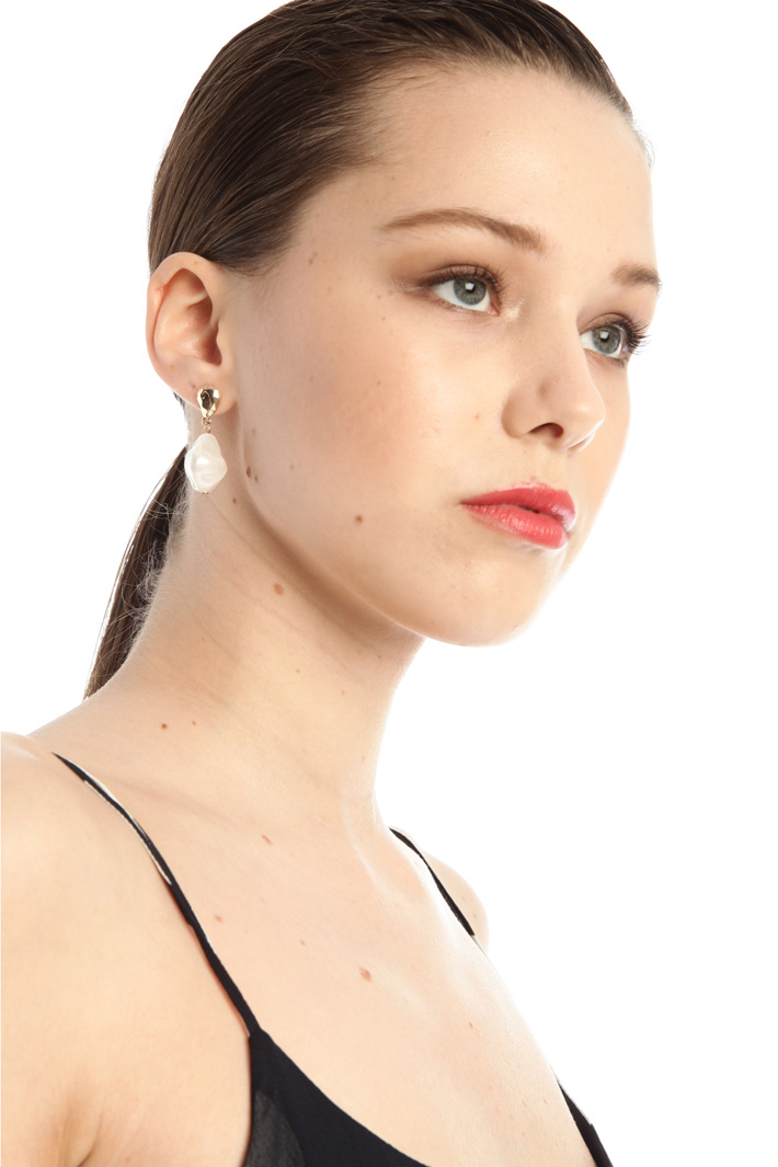 Drop earrings with stone Intrend