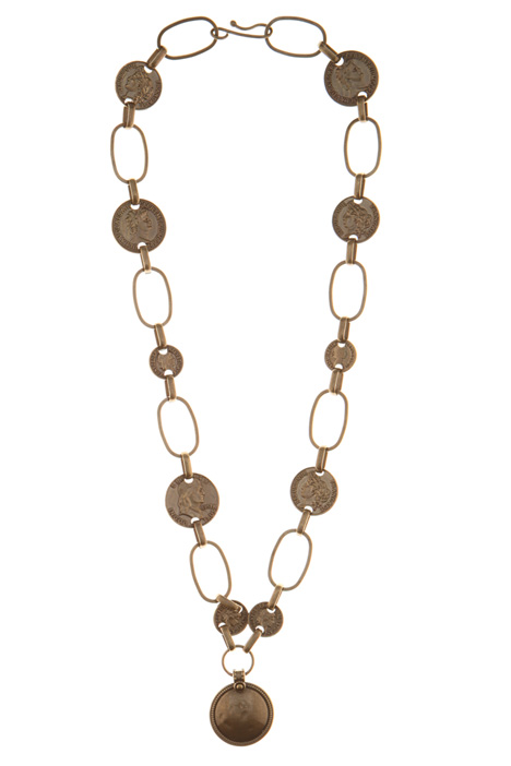 Coin charm necklace Intrend