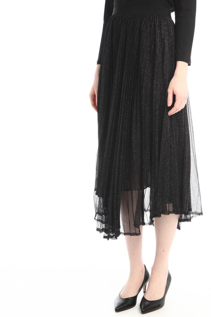 Pleated lurex skirt Intrend