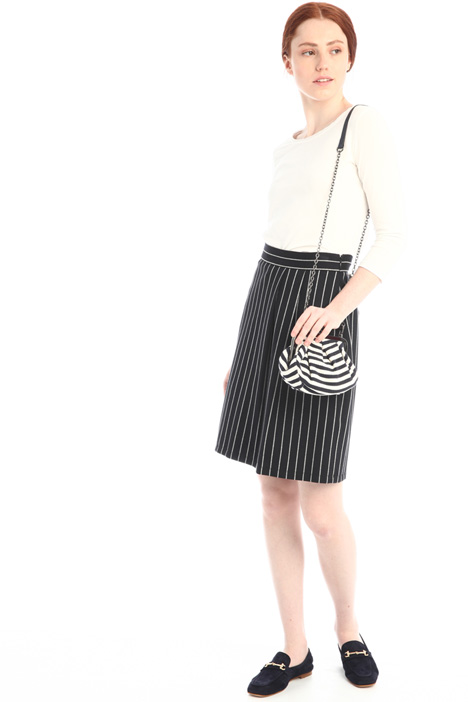 Pinstriped jersey skirt Intrend