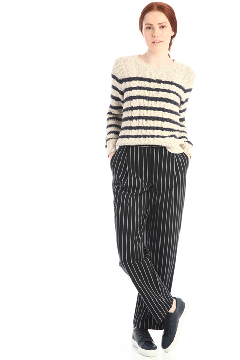Pinstriped jersey trousers Intrend
