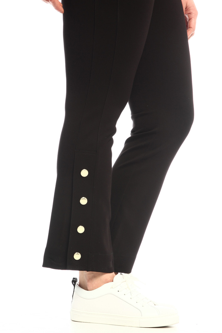 Jersey trousers with slits Intrend