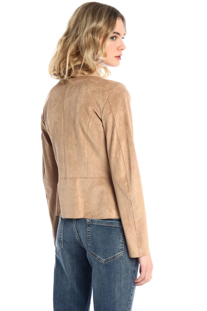 Slim fit suede jacket Intrend