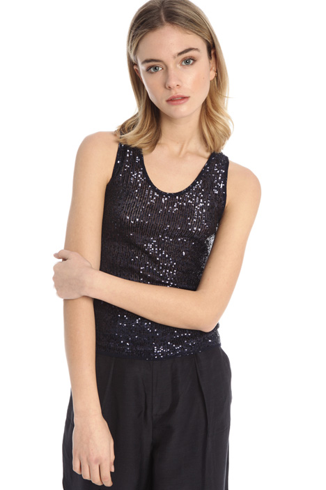 Sequinned tulle top Intrend