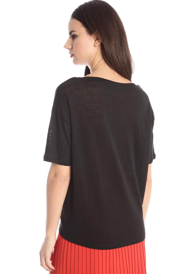 Linen jersey T-shirt Intrend