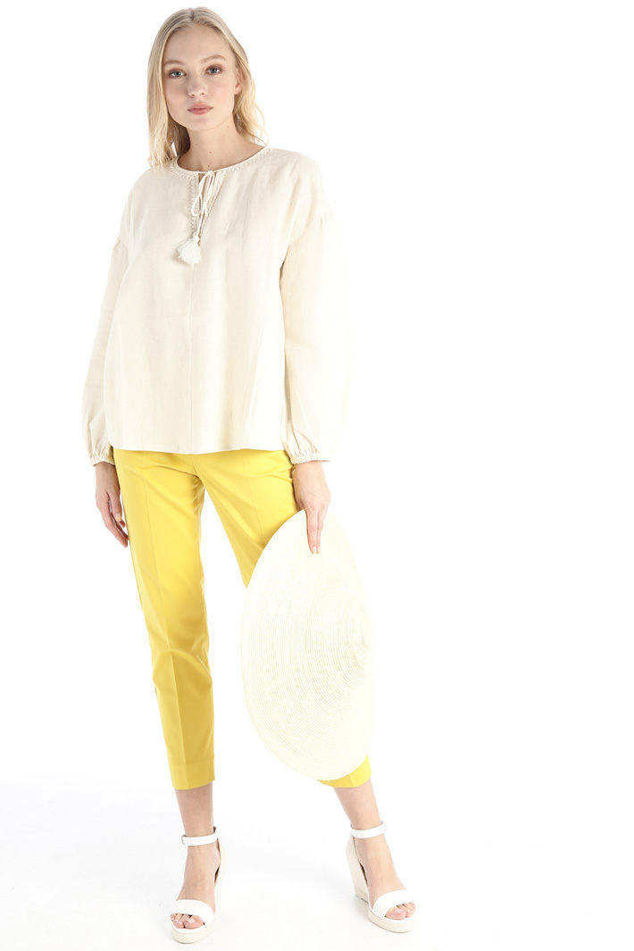 Linen and cotton jersey shirt Intrend