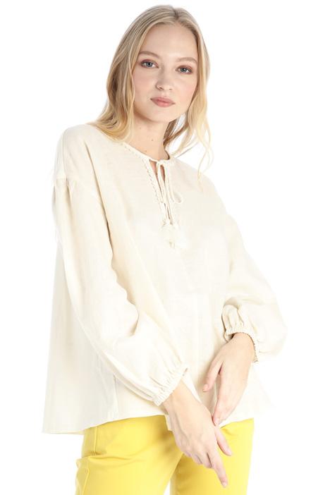Linen and cotton jersey shirt Intrend