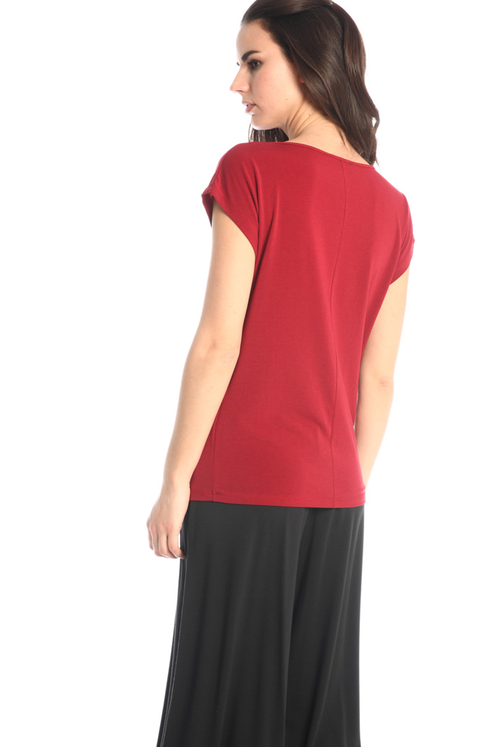 Stretch cotton jersey T-shirt Intrend