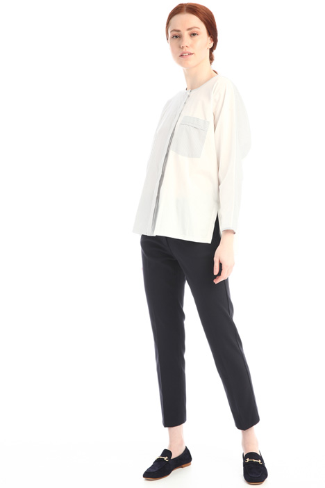 Jersey and poplin shirt Intrend