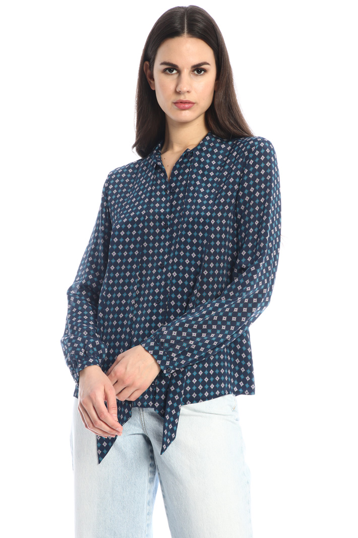 Silk and jersey shirt Intrend
