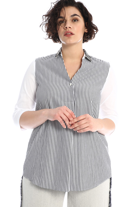 Poplin and jersey tunic Intrend